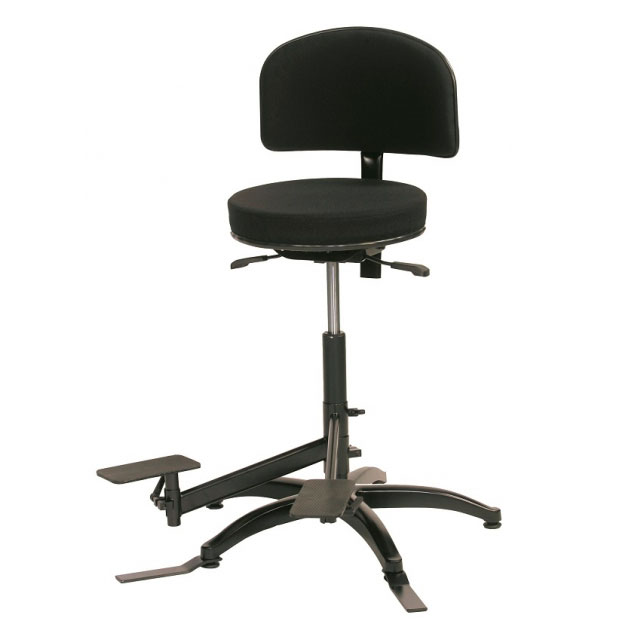 Fully adjustable double bass player chair