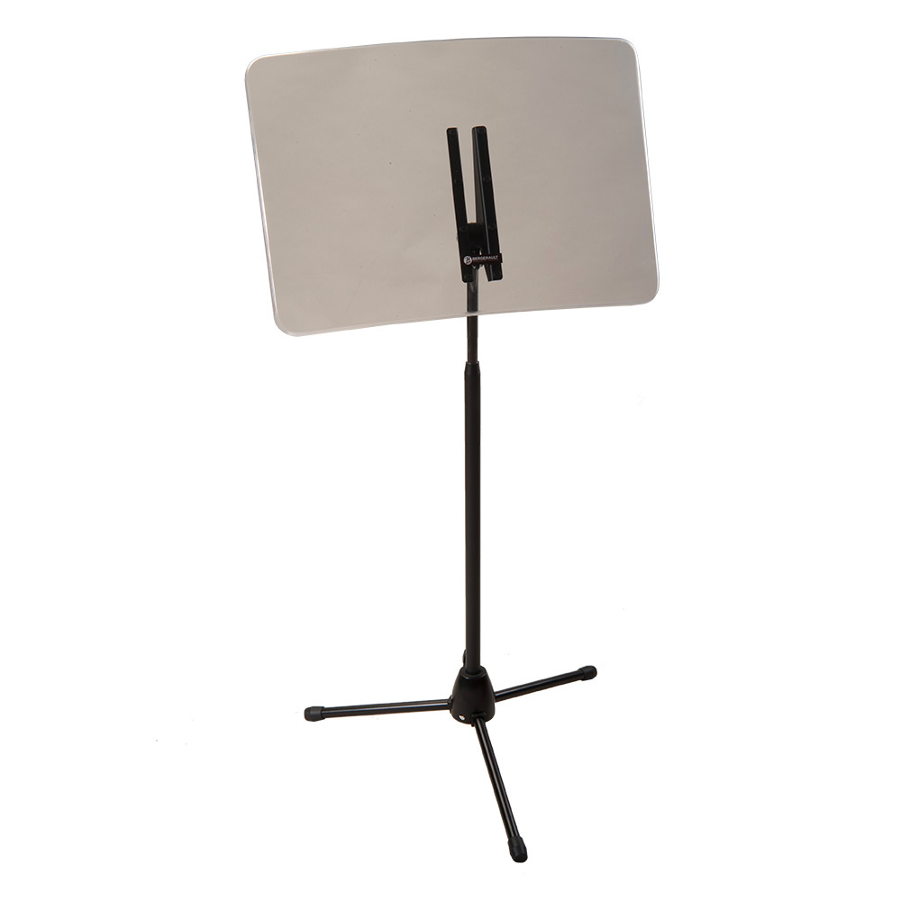 Lateral protective screen on stand with foldable base