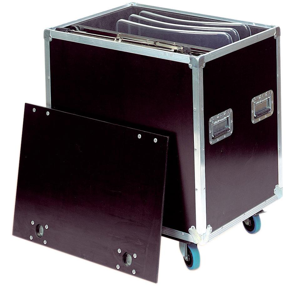 Flight cases for 12 acoustic deflectors