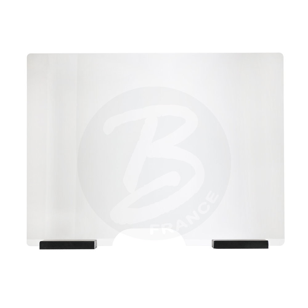 Hygiaphone 100 x 75 cm for desk or counter with pass-documents