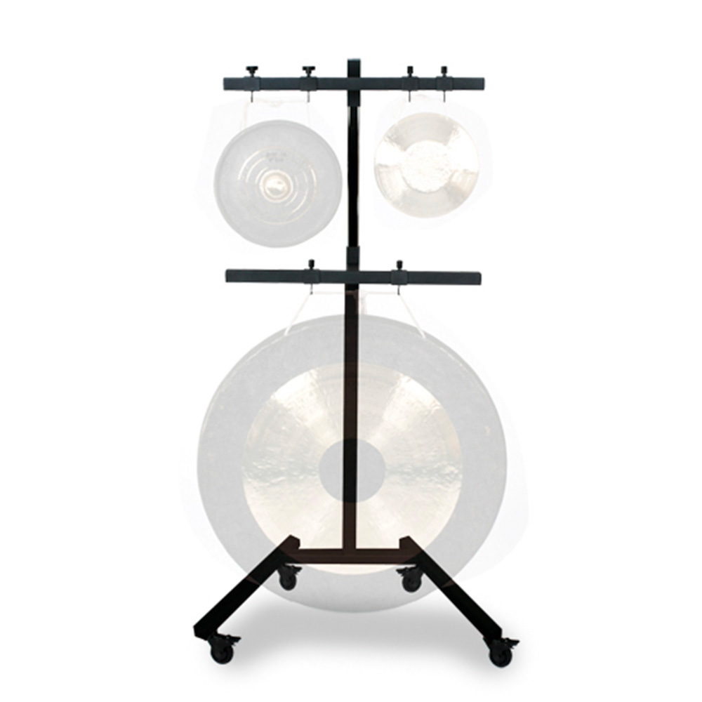 Stand on wheels for gongs